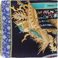 Shanghai Tang Lenço Com Estampa De Coroa - Azul