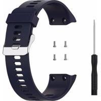 Pulseira De Silicone Tudo Smartwatch Para Garmin Forerunner 35 Azul Escuro