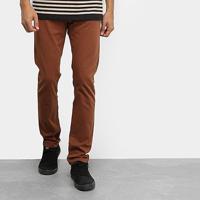 Calça Sarja Element Essential Brown Masculina - Masculino-Marrom
