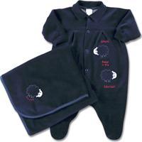 0a9f9f20ba8b0 ... Jogo Saida De Maternidade Plush Sheep Baby - Masculino-Azul