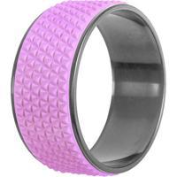 Magic Wheel Para Yoga E Pilates Diamond- Lilã¡S & Prateadacte