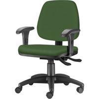 Cadeira Job Com Bracos Curvados Assento Crepe Verde Base Rodizio Metalico Preto - 54619 - Sun House