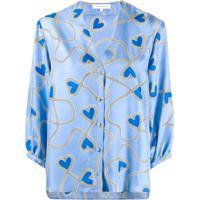 Chinti & Parker Blusa Com Estampa De Coração - Azul