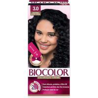 Tintura Biocolor Coloração Creme Castanho Escuro 3.0 Mini Kit