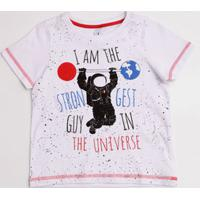 Camiseta Infantil Astronauta Manga Curta Marisa