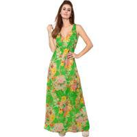 Vestido Estilo Boutique Longo Garden Estampado