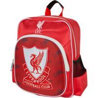 Mochila Liverpool Futebol & Magia Bola 3D - Infantil - Vermelho