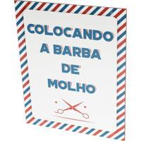 Placa Decorativa Prolab Gift Barba De Molho Branco
