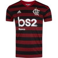 Camisa Do Flamengo I 2019 Adidas Com Patrocínio Bs2 - Masculina - Vermelho/Preto