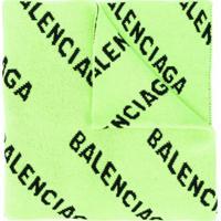 Balenciaga Echarpe Com Estampa De Logo - Verde