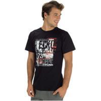 Camiseta Ecko Estampada E676A - Masculina - Preto