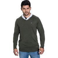 Suéter Polo London - Verde Militar - P