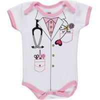 Body Infantil Para Bebê Menina - Rosa