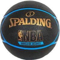 Bola Basquete Spalding Highlight - Unissex-Preto+Azul