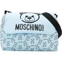 Moschino Kids Bolsa Maternidade 'Teddy Bear' - Azul