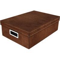 Caixa Organizadora M- Marrom- 12X39X27Cm- Boxmanboxmania