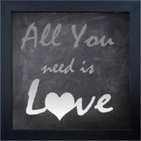 Quadro 65869 Contemporâneo All You Need 28X28 Cm Preto