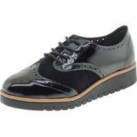 Sapato Feminino Oxford Beira Rio - 4174727 Preto/Camurça 39