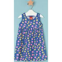 Vestido Floral- Azul & Rosakyly