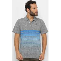 Camisa Polo Oakley Iridium Fade Masculina - Masculino-Cinza