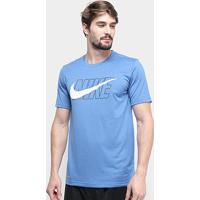 Camiseta Nike Dry Leg Nike Masculina - Masculino-Azul+Branco