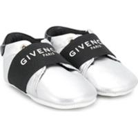 Givenchy Kids Tênis Slip-On Com Logo - Cinza