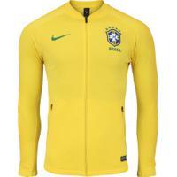 6d7693ee8f Jaqueta Da Seleção Brasileira 2018 Hino Nike - Masculina - Amarelo Verde