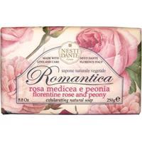 Romântica Rosas Florentinas Com Essências De Peônia Nesti Dante - Sabonete Perfumado Em Barra 250G - Unissex-Incolor
