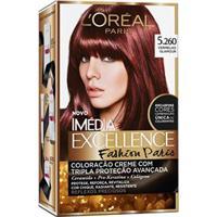 Tintura Imédia Excellence L'Oréal Fashion Paris 5.260 Vermelho Glamour - Unissex-Incolor