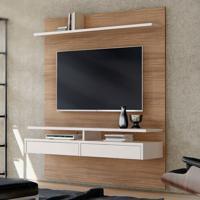Painel Para Tv Até 65 Polegadas Smart Noce E Off White 160 Cm