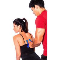 Massageador Manual Com 4 Esferas T152 Acte Sports - Massageador Manual Com 4 Esferas Azul