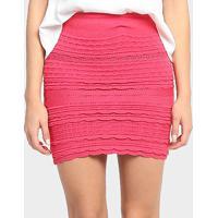 Saia 284 Tricot Babados - Feminino-Pink