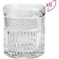 Jogo De Copos Para Whisky Santorini- Cristal- 6Pã§S