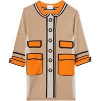 Burberry Kids Vestido Trompe L'Oeil - Neutro