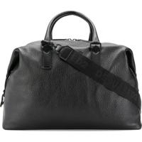 Dsquared2 Logo Patch Pebbled-Effect Holdall - Preto
