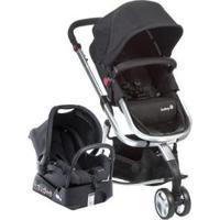Carrinho De Bebê Com Bebê Conforto Safety 1St Travel System Mobi Ts 0 A 15Kg - Unissex-Preto+Prata