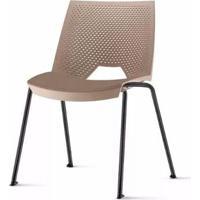 Cadeira Strike Assento Bege Base Preta - 54069 - Sun House
