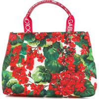 Dolce & Gabbana Kids Bolsa Tote Com Estampa Floral - Vermelho