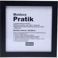 Moldura Em Madeira Pratik 24Cm Preto