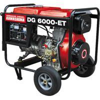 Gerador De Energia À Diesel Trifásico 5000W 380V Dg-6000Et Kawashima