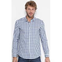 10abc61d51d8c ... Camisa Xadrez Calvin Klein Slim Fit Masculina - Masculino-Azul