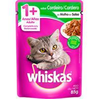 Ração Para Gatos Whiskas Adulto 1+ Anos Sachê Sabor Cordeiro Ao Molho Com 85G