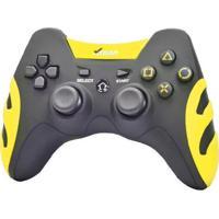 Controle Sem Fio Xtrad 4 Em 1 Xd-503 Preto/Amarelo