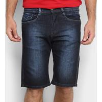 Bermuda Jeans Replay Estonada Masculina - Masculino-Azul