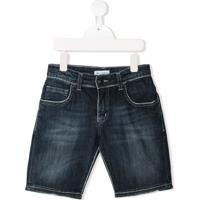Paolo Pecora Kids Short Jeans - Azul