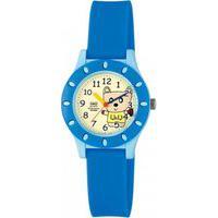 Relógio Pulso Q&Q Japan Analógico Borracha Infantil Menino Azul