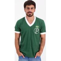 Camisa Palmeiras Retrô Mundial 1951 - Masculino-Verde