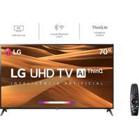 Smart Tv Led 70´´ Lg 70Um7370, Uhd 4K, Thinq Ai, Webos 4.5, Quad Core, Hdr Ativo, 2 Usb, 3 Hdmi Bivolt