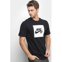 Camiseta Nike Sb Logo Nomad Masculina - Masculino-Preto