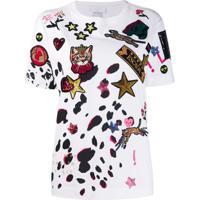 Escada Sport Camiseta Com Aplicação De Patch - Branco